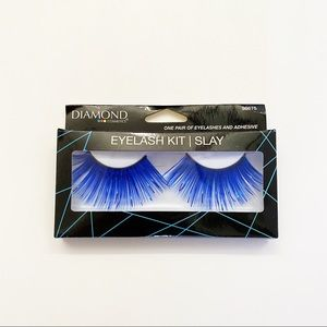 NEW Diamond Royal Blue Metallic False Eyelashes